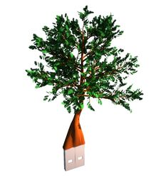 Free Tree With Usb Plug Royalty Free Stock Image - 15452596