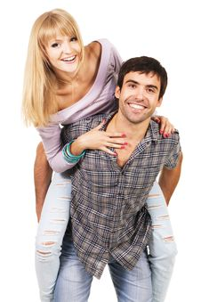 Free Cheerful Young Couple Stock Image - 15453141