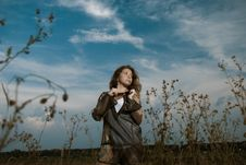 Free Woman At Meadow Plants Royalty Free Stock Photos - 15453288