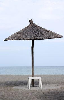 Free Beach Umbrella And Chair Stock Image - 15454071