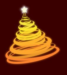 Free Glowing Christmas Tree Royalty Free Stock Image - 15454176