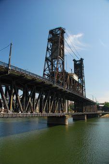 Free Steel Bridge. Portland, Oregon Royalty Free Stock Photo - 15454305