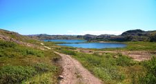 Free Two Lakes Surrounded By Green Hill Stock Images - 15454804