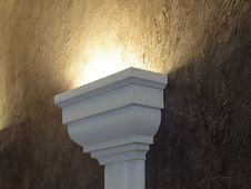 Free Lamp On A Claret Wall. Royalty Free Stock Photo - 15454805