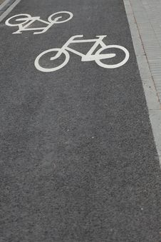 Free Bicycle Road Sign Stock Photo - 15455360