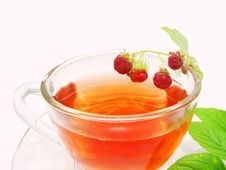 Free Raspberry Fruit Tea With Berries Royalty Free Stock Photo - 15455425