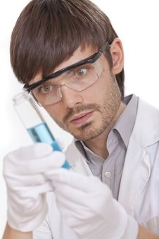 Free Scientist With Flask Stock Photos - 15455573