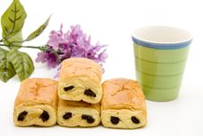 Free Pastry With Cup Stock Photo - 15455650
