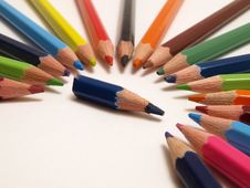 Free Colour Pencils Stock Photography - 15455882