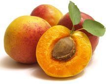 Ripe Juicy Apricot Stock Photo