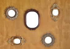 Free Five Mirror Frames Royalty Free Stock Images - 15456859