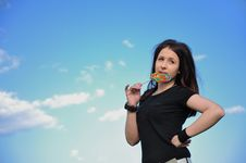 Free Girl With Lollipop Royalty Free Stock Image - 15457576
