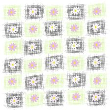 Black And Green Squares With Flower Stock Images