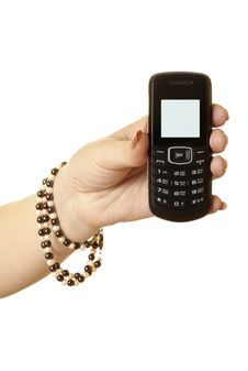 Free Mobile Phone In The Women S Hand Stock Photography - 15457932