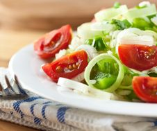 Rice Salad With Vegetables Royalty Free Stock Photo