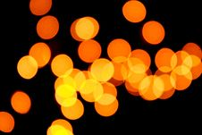 Free Orange Bokeh Royalty Free Stock Photography - 15459287
