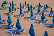 Free Beach Deck-chairs Stock Photo - 15459300