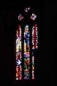 Free Church Mosaic Window Stock Images - 15459534