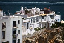 Houses On The Cliff Stock Images