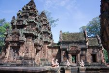 Free Karma Sutra In Banteay Srey Temple Cambodia Royalty Free Stock Photos - 15459788