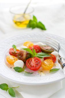 Free Caprese Salad Royalty Free Stock Photography - 15459887
