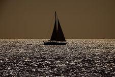 Free Sailboat Silhouette Stock Photo - 15459970