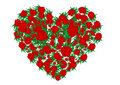 Free Vector Illustration Heart From Red Roses Royalty Free Stock Photo - 15462975