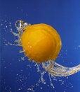 Free Lemon In Water Splashes Royalty Free Stock Image - 15464396