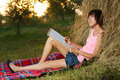 Free Lovely Girl Drawing In The Park Stock Images - 15469324