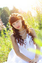 Free Beautiful Girl In A Dress Royalty Free Stock Image - 15469596
