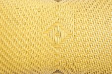 Mat Woven From Palm Leaves Royalty Free Stock Photos