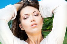 Lovely Beautiful Woman Royalty Free Stock Photography