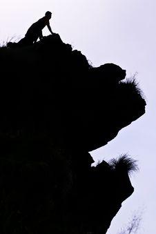 Free Man On Peak Of Mountain. Stock Images - 15460534