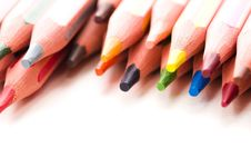 Free Collection Of Colorful Pencils Royalty Free Stock Image - 15460766