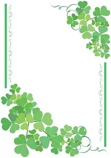 Free Green And White Vector Floral Card Royalty Free Stock Photo - 15460785