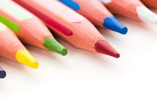 Free Collection Of Colorful Pencils Stock Image - 15460801