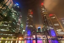 Free Singapore City Light Night Stock Photos - 15460923