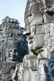 Free Carved Stone Face Royalty Free Stock Images - 15460999
