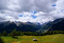 Hike In The  Passeiertal  In South Tyrol Royalty Free Stock Image