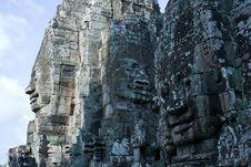 Free Bayon Temple Face Angkor Thom Royalty Free Stock Images - 15461109