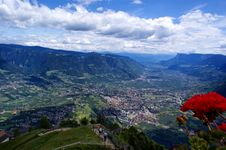 Merano From The Birds-eye View Royalty Free Stock Photography