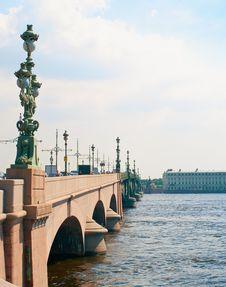 Free Troitskij Bridge Royalty Free Stock Photos - 15461548