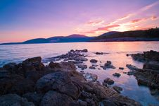 Rocky Beach In Montenegro Royalty Free Stock Photos
