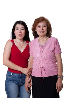 Free Asian Mom And Daughter Royalty Free Stock Photos - 15461828