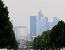 Free La Defense In A Big City Smog Royalty Free Stock Image - 15462056