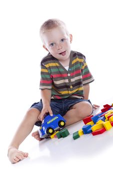 Free The Kid Plays With Cubes Stock Photo - 15462100