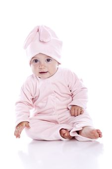 Free Baby Wearing Bunny Suit Royalty Free Stock Photo - 15462435
