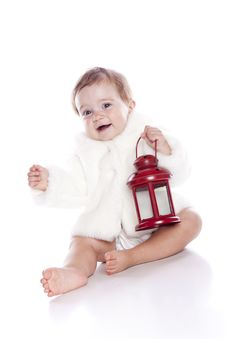 Free Cute Little Girl With A Warm Coat On Stock Photography - 15462452