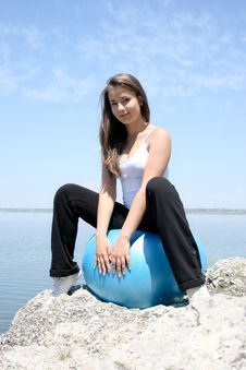 Free Young Woman Doing Yoga Exercises Stock Photography - 15463432