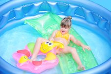 Free In The Pool Stock Photography - 15463562